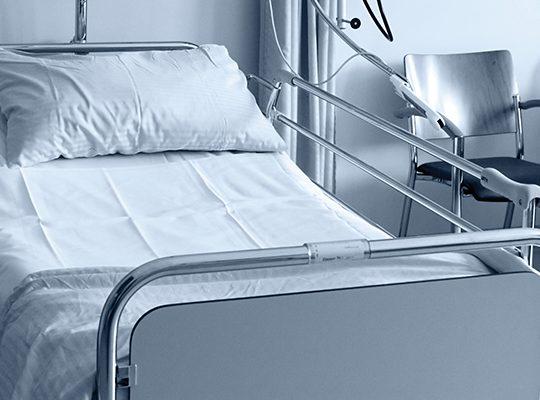 Empty hospital bed