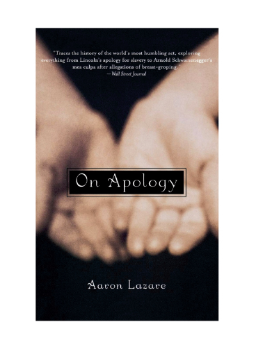 "Book cover of ""On Apology"" by Aaron Lazare"