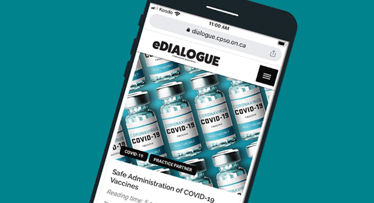 Mobile phone viewing eDialogue article