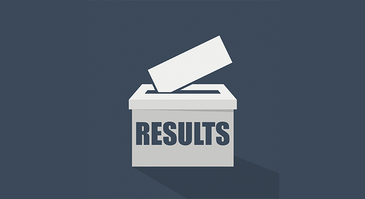 """Voters box labelled """"Results"""""""